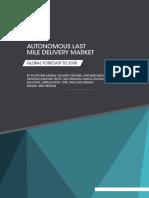 Sample - Autonomous Last Mile Delivery Market