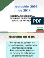Capacitacion Resolucion 2003 RH Otros (1)