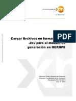 Cargar archivos Herope