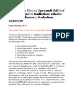 The Modus Operandi (MO) of Electromagnetic Radiations attacks & How to Minimize Radiation Exposure