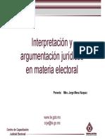 Interpretación del derecho electoral.
