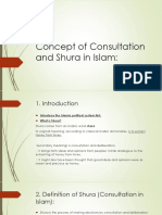 Concept of Consultation and Shura in Islam