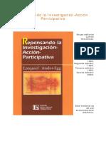Ander-Egg, Ezequiel - Características y elementos de Investigación-Acción Participativa