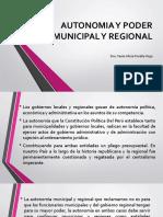 Autonomia y Poder Municipal y Regional