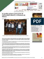 Se Gradúa Primera Generación de Universidad Abierta y a Distancia de México — La Jornada