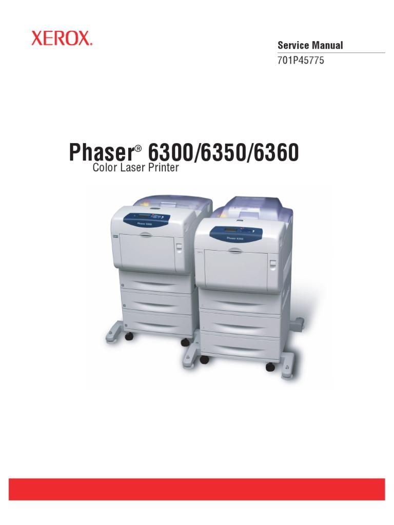 xerox phaser 6300 6350 6360 parts list service manual rh scribd com