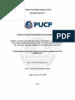 Romero Romero Yuri Desnaturalización Autotutela Administrativa en Ley de Procedimientos de Ejecucion Coactiva