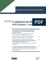 Cadernos Do IME - Serie a Vol 27