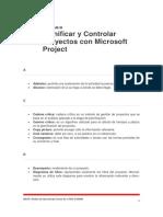 planificar proyectos en project
