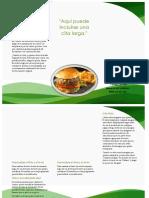ejemplo folletos comidas