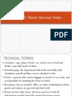 Room Sercvice Order.