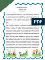 Informe Pedagógico Agosto