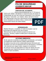 Alerta Accidente Mayor MM Fractura Dedo Indice y Anular Mano Derecha