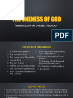 The Oneness of God Chapt 1
