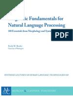 Emily M. Bender - Linguistic Fundamentals for Natural Language Processing-Morgan & Claypool (2013)