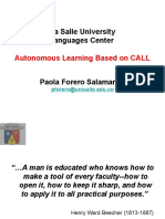 Autonomous Learning Based on Call