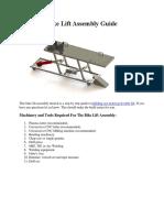 Bike Lift Assembly Guide