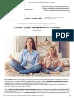 7 Conselhos Para Fazer Meditação Mindfulness Com Crianças