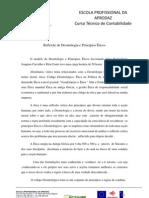 Reflexão de Deontologia e Princípios Éticos Carla