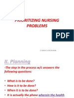 Prioritizing Nursing Problems