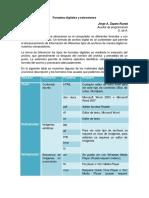 Formatos Digitales y Extensiones