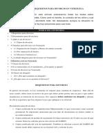 Trámites y Requisitos Para Divorcio en Venezuela