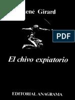 Rene Girard El Chivo Expiatorio