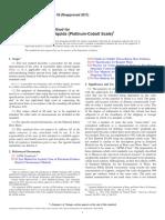 D1209 -05(2011) Standard Test Method for Color of Clear Liquids (Platinum -Cobalt Scale).pdf