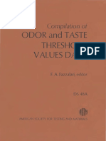 DS48A - (1978) Compilation of Odor and Taste Threshold Values Data