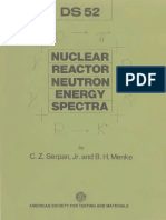 DS52 - (1974) Nuclear Reactor Neutron Energy Spectra