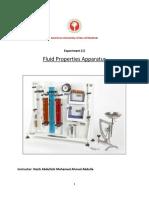 Experiment 1- Fluid Properties Appratus