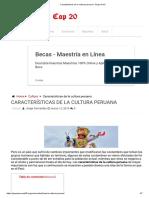 Características de la cultura peruana ⋆ Grupo Perú