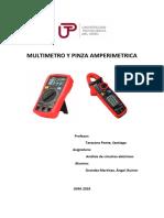 Multimetro y Pinza Amperimetrica