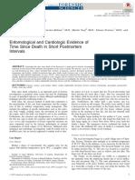 Entomological and Cardiologic Evidence of Time Since Death in Short Postmortem Intervals