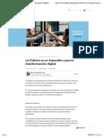 La Cultura es un imperativo para la transformación digital | LinkedIn
