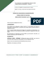 Reglamento Interno del Colegio de licenciados de administracion