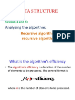 Session4&5 Analysis of Recursive Algorithm