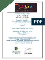 certificate thurs 28th feb 2019 - jericho