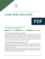 Bando Luoghi Della Cultura 2019