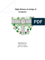 Role of Sight Distance in Design of Geometry