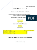 BCA 507 PROJECT PHASE - I SAMPLE REPORT AND GUIDE LINE.doc