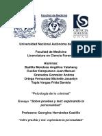 Pruebas proyectivas y test LCF UNAM