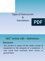 A - Types of Overcurrents & Calculations