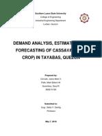 Demand analysis of cassava