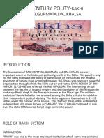 18th Century Polity-rakhi System,Gurmata,Dal Khalsa