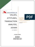 3.Values Attitudes Ta Johari