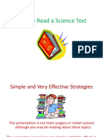 How to Read a Science Text