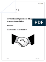 Internet Leased Line SLA Format New