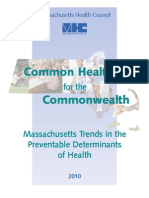 Massachusetts Health Council's Bi-Annual State Check-Up