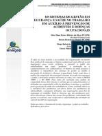 5_ets_tp 01_os Sistemas de Gestão de Sso Em Auxílio à Prevenção de Acidentes e Doenças Ocupacionais